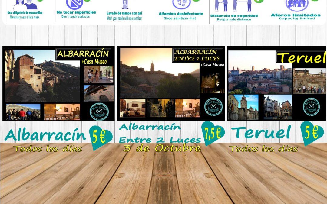 Esta semana…planes para ti… Albarracín y Teruel de Visitas Guiadas! Albarracín Entre 2 Luces…el Sábado 3 de Octubre!