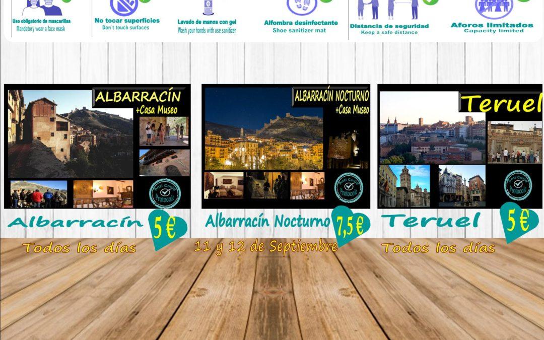 Planes para ti en Albarracín y Teruel…viernes y sábado, Albarracín Nocturno! (Aforos más reducidos, reserva tu plaza)