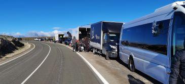 Noticia Diario de Teruel: El rodaje de un anuncio en Pozondón moviliza a más de 105 profesionales, 10 camiones de material técnico y 20 vehículos de logística