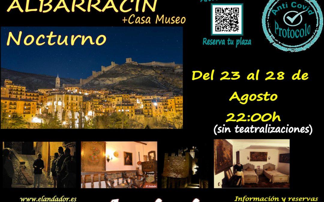 Del 23 al 28 de Agosto… Visita Guiada en Albarracín Nocturno! Reserva tu plaza!