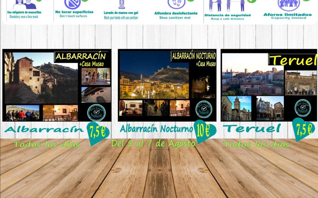 Planes para comenzar Agosto! Visitas Guiadas en Albarracín, Casa Museo, Teruel y Albarracín Nocturno!