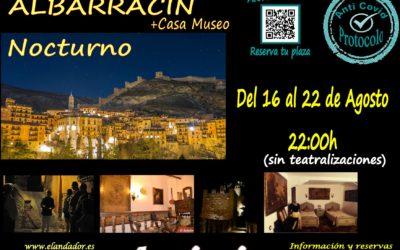 Del 16 al 22 de Agosto… Visitas Guiadas en Albarracín Nocturno! Reserva tu plaza!