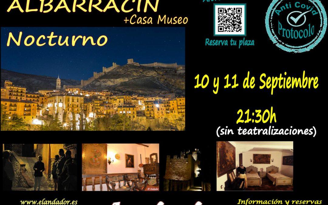 Viernes 10 y Sábado 11… De visita guiada en Albarracín Nocturno! Reserva tu plaza!