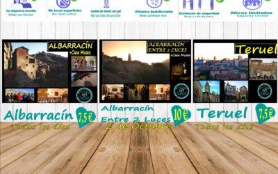 Esta semana, planes para visitas guiadas en Albarracín y Teruel… y el Sábado, Albarracín Entre 2 Luces!